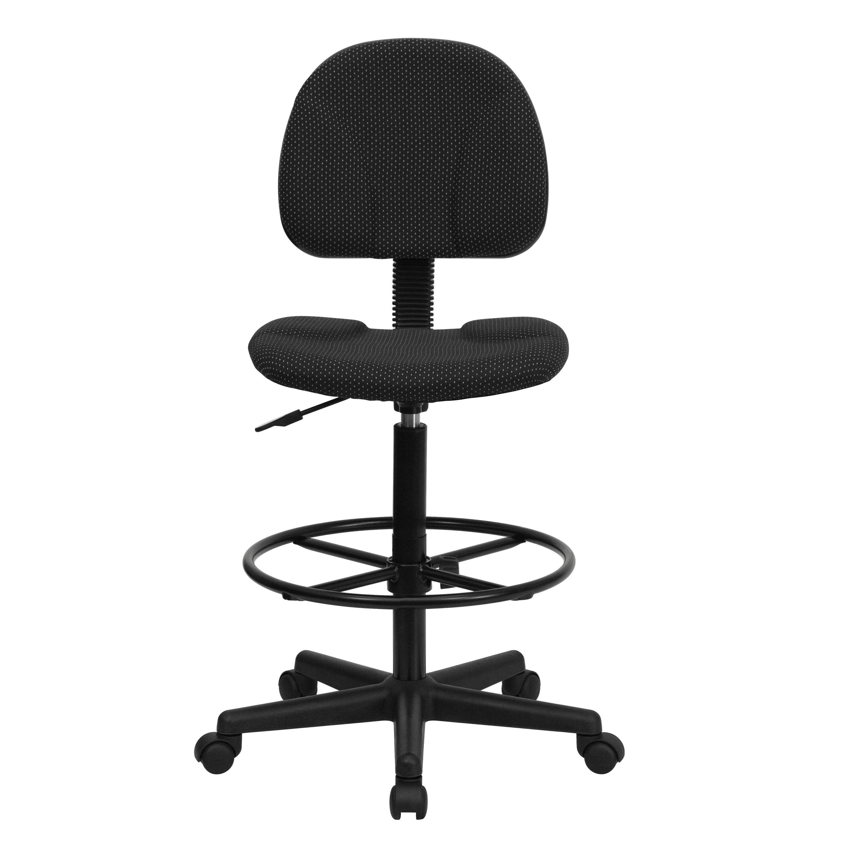 Genial ... Our Black Patterned Fabric Drafting Chair (Cylinders: 22.5u0027u0027 27u0027u0027 ...