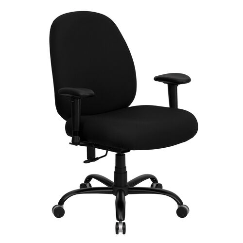 Our HERCULES Series Big & Tall 400 lb. Rated Black Fabric Executive Ergonomic Office Chair with Adjustable Back and Arms is on sale now.