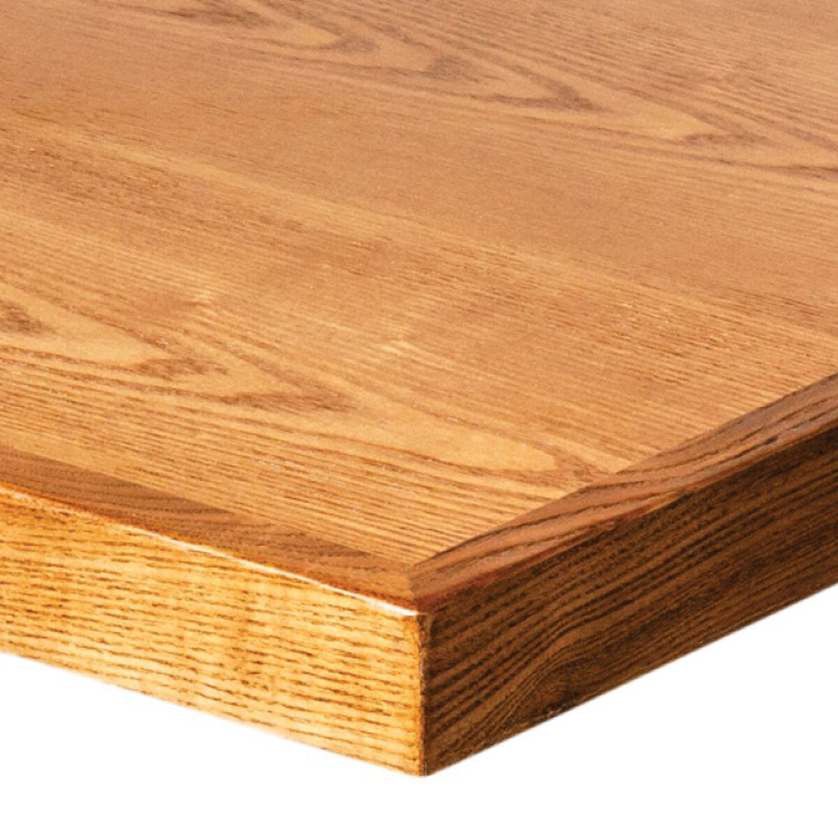 Our wood veneer 36 square table top with solid ash wood edge autumn