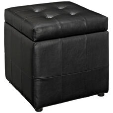 Volt Storage Ottoman in Black