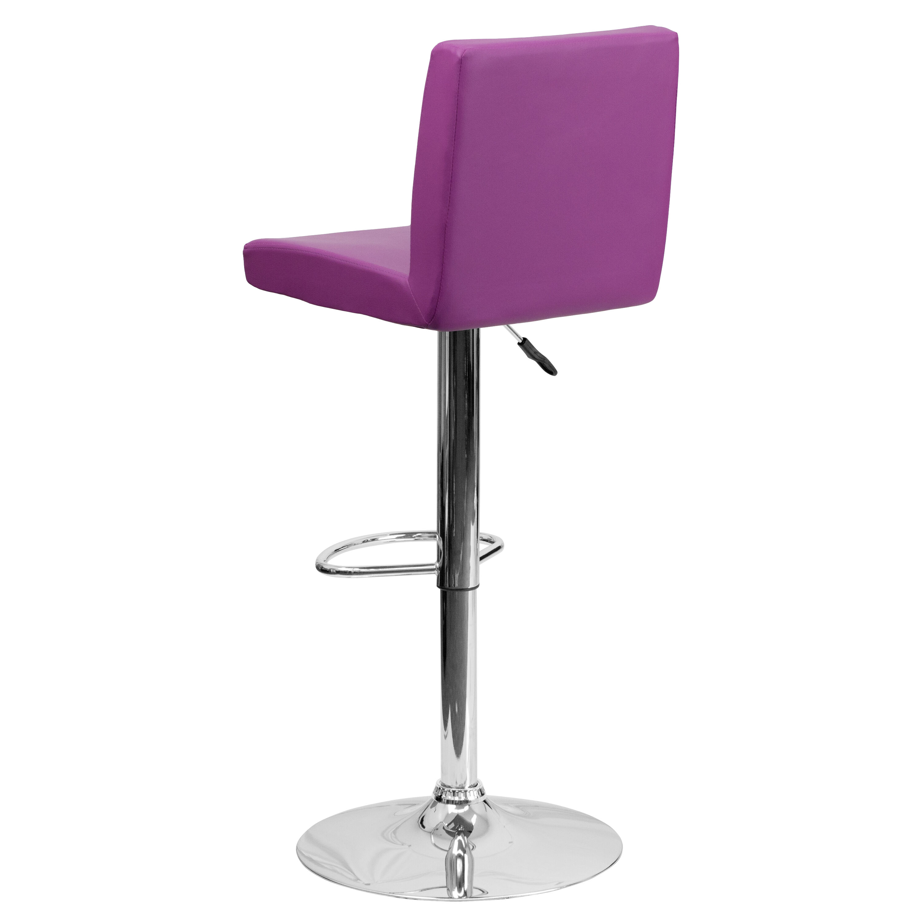 Superieur Our Contemporary Purple Vinyl Adjustable Height Barstool With Chrome Base  Is On Sale Now.