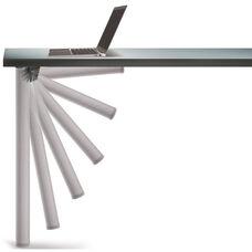 Aluminum Push-Button Single Foldable Table Leg with Mounting Hardware - 27.75