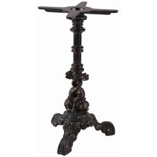 Dolphin Decorative Cast Iron Table Base with Column and 16