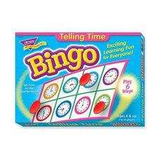 Trend Enterprises Bingo Telling Time Game - 3 -36 Players - 36 Cards/Mats