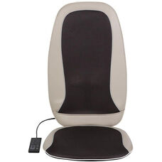 Relaxzen Full Back Shiatsu and Rolling Massager with Heat - Beige and Dark Gray