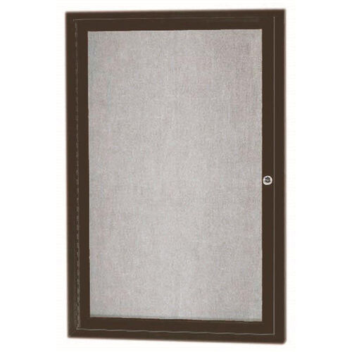 Our 1 Door Outdoor Enclosed Bulletin Board with Bronze Anodized Aluminum Frame - 36