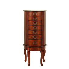 Jewelry Armoire - Woodland Cherry with Black Lining