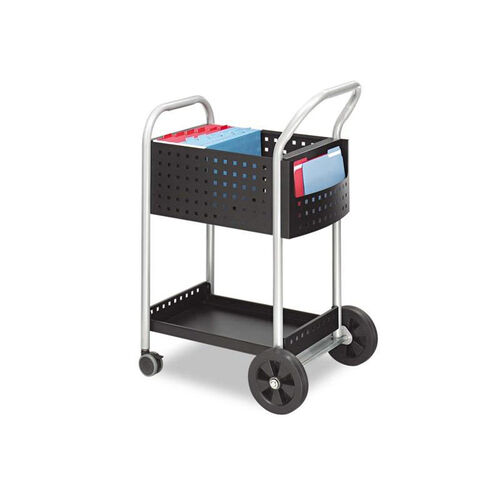 Our Safco® Scoot Mail Cart - One-Shelf - 22w x 27d x 40-1/2h - Black/Silver is on sale now.