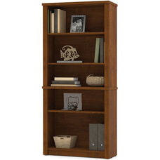 Embassy Modular 5 Shelf Bookcase with Adjustable Shelving - Tuscany Brown