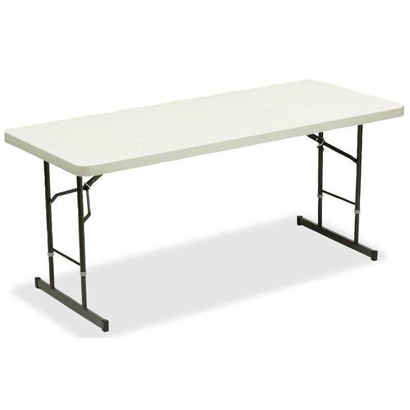 Iceberg Rectangular 30u0027u0027W X 72u0027u0027D Height Adjustable Folding Table