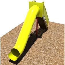 Powder Coat Paint Finished Steel Framed Tunnel Slide with Safety Enhancing Closed Steps and Polyethylene Finished Slide - 72