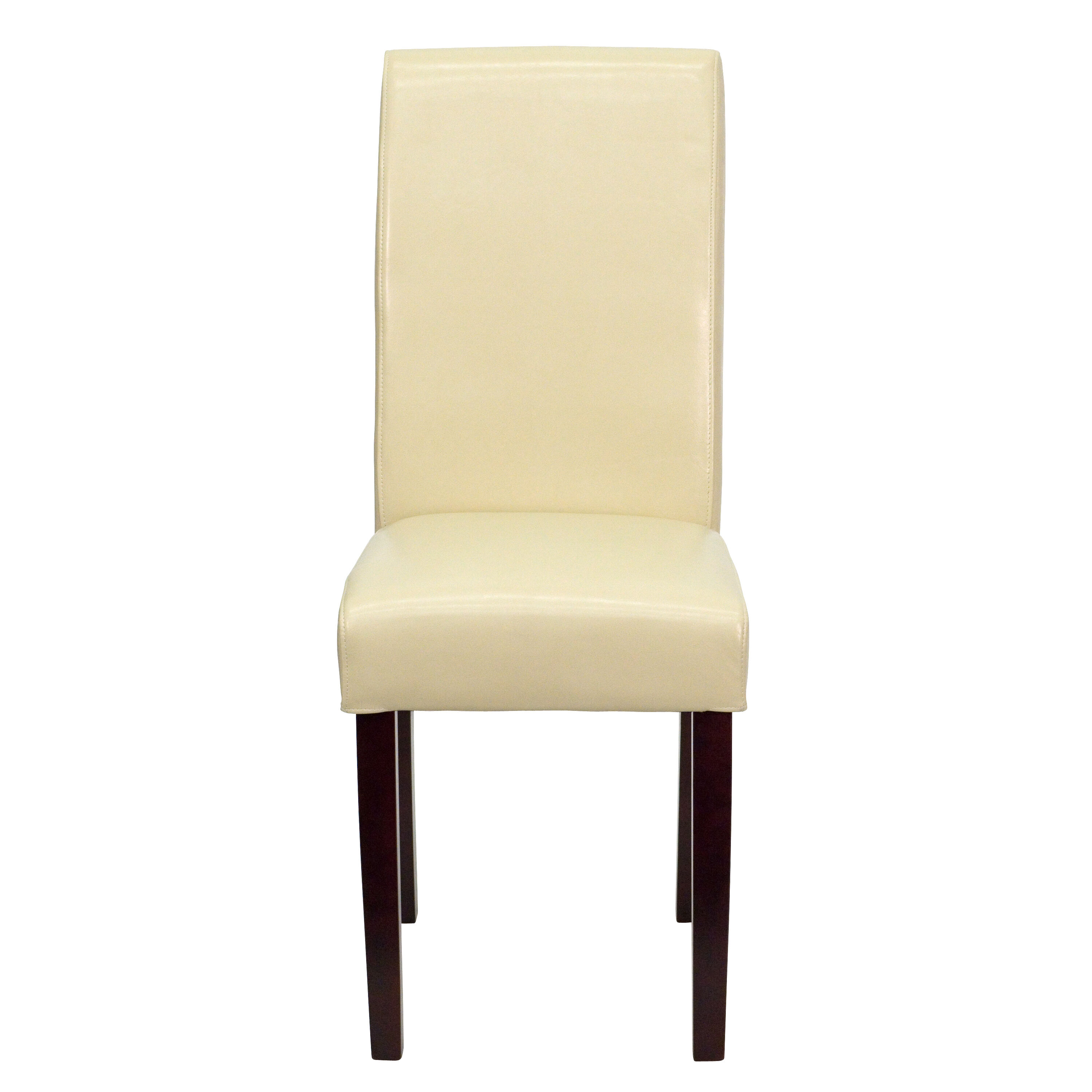 Our Ivory Leather Parsons Chair Is On Sale Now.