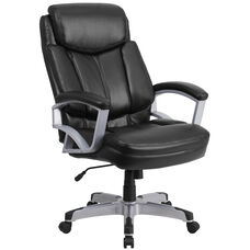 HERCULES Series Big & Tall 500 lb. Rated Black Leather Executive Swivel Ergonomic Office Chair with Arms