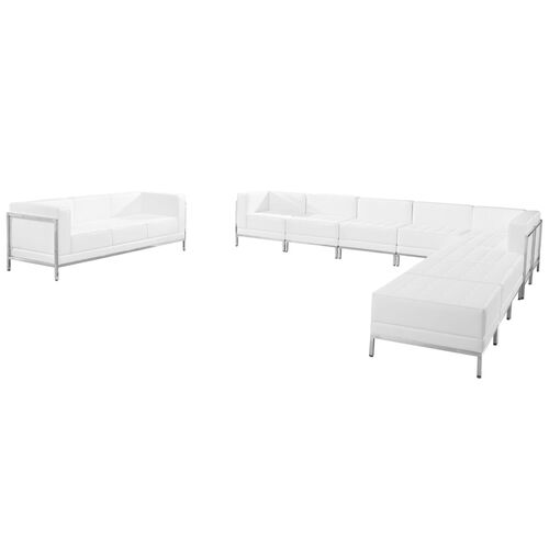 Our HERCULES Imagination Series Melrose White Leather Sectional & Sofa Set, 10 Pieces is on sale now.