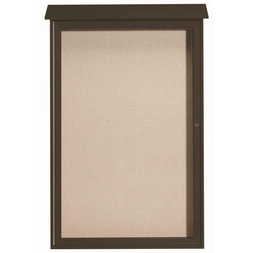 Our Green Single Hinged Door Plastic Lumber Message Center with Vinyl Surface - 54