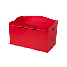 Austin Wooden Spacious Toy Box with Bench Seating Flip-top Lid - Red