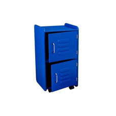 Kids Toys Books and Clothes Storage Medium Wooden Two Door Locker - Blue