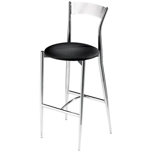 Cafe Twist Metal Back and Upholstered Seat Barstool