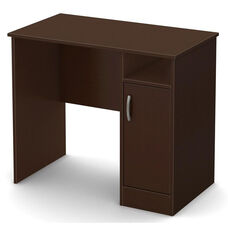 Axess Collection 1-Cubby Small Desk Chocolate