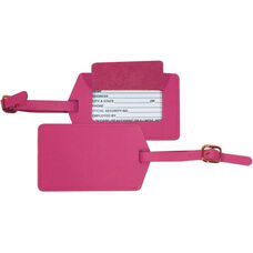 Luggage Tag - Top Grain Nappa Leather - Wildberry