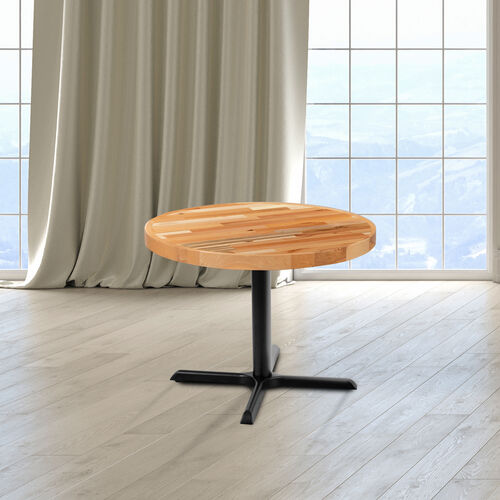 """30"""" Round Butcher Block Style Table Top"""