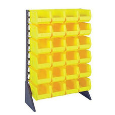 Single Sided Rail System with 24 Bins - Yellow