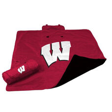 University of Wisconsin Team Logo All Weather Blanket