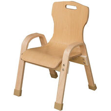 Stacking Bentwood Plywood Kids Chair with Arms - 14