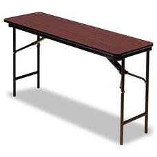 Iceberg Premium Wood Laminate Folding Table - Rectangular - 60w x 18d x 29h - Mahogany