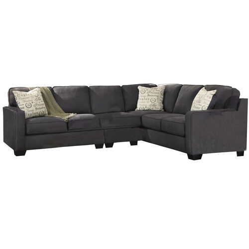 Our Signature Design by Ashley Alenya 3-Piece Right Side Facing Sofa Sectional in Charcoal Microfiber is on sale now.