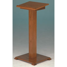 Stained Red Oak Lectern with Lift-Lid