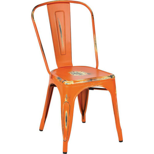 Our OSP Designs Bristow Stackable Armless Metal Chair - Set of 4 - Antique Orange is on sale now.