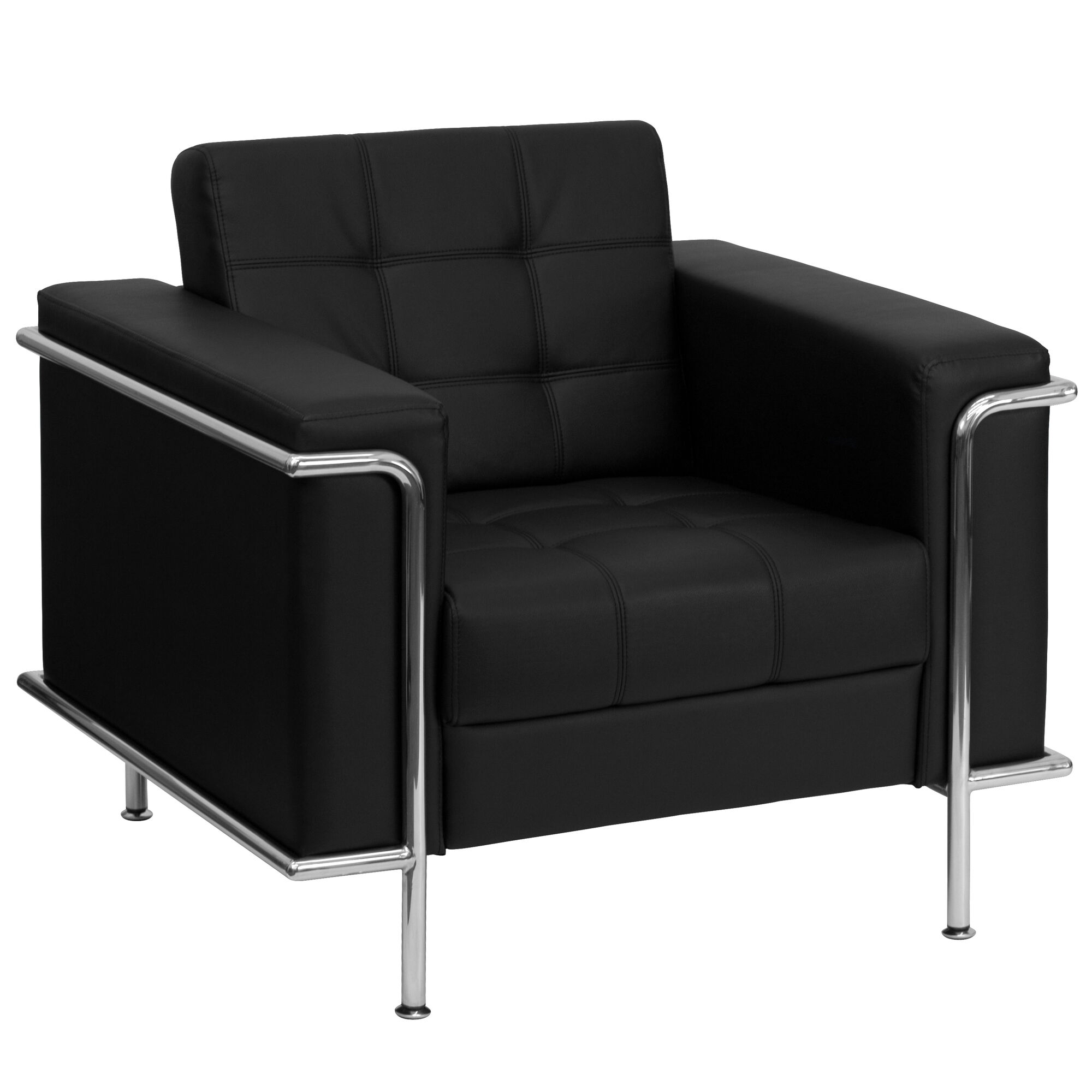 Tremendous Hercules Lesley Series Contemporary Black Leather Chair With Encasing Frame Cjindustries Chair Design For Home Cjindustriesco