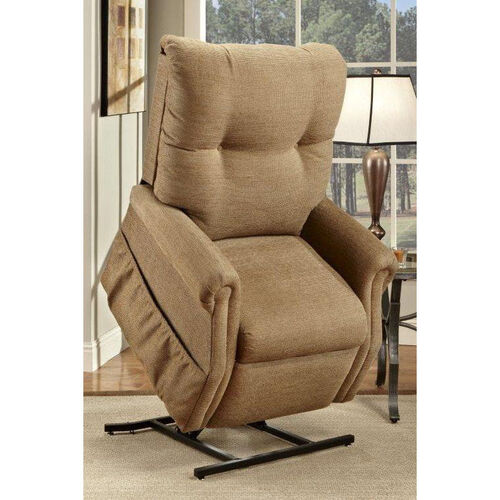 Our Economy Model Two Way Reclining Power Lift Chair with Magazine Pocket - Dawson Tan Fabric is on sale now.