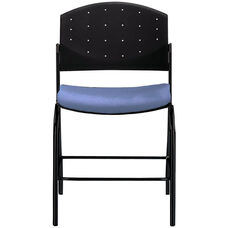 Eddy Black Counter Stool with Upholstered Seat Pad