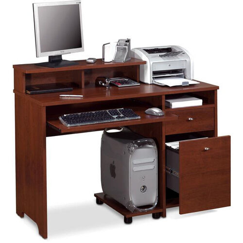 Our Legend Computer Desk with Keyboard Shelf and CPU Platform - Tuscany Brown is on sale now.