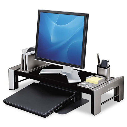 Our Fellowes® Professional Series Flat Panel Workstation - 25 7/8 x 11 1/2 x 4 1/2 - Black/Silver is on sale now.