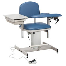 Hands Free Adjustable Power Series Blood Drawing Chair with Padded Flip Arm and Drawer