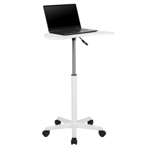 Our White Sit to Stand Mobile Laptop Computer Desk is on sale now.