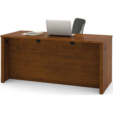 Embassy Executive Desk with Dual Half Pedestals and Drawers - Tuscany Brown