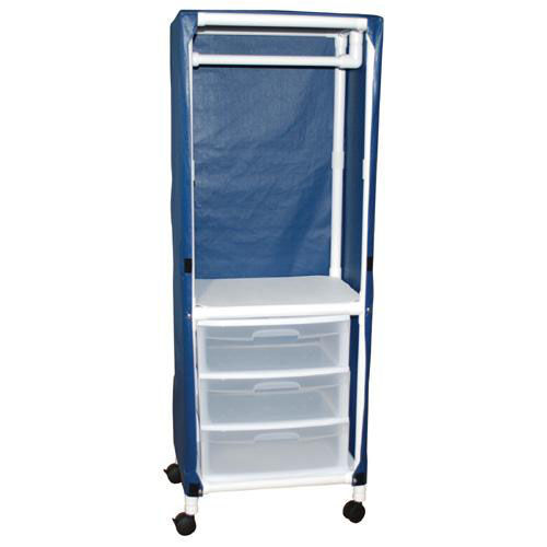 Our Universal Cart with Drawers with Mesh Cover and Casters- 27