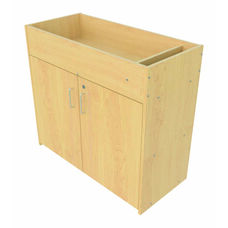 Infant Changing Table with Locking Storage Base - Assembled