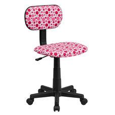 Pink Dot Printed Swivel Task Chair