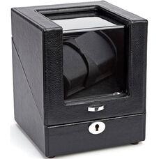 Luxury Battery Powered Double Watch Winder - Black