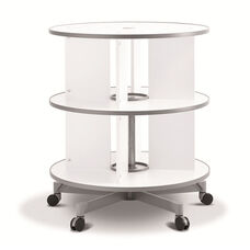Moll 2 - Tier Spin N File Rotary Binder Storage Carousel for Letter Sized Materials - White