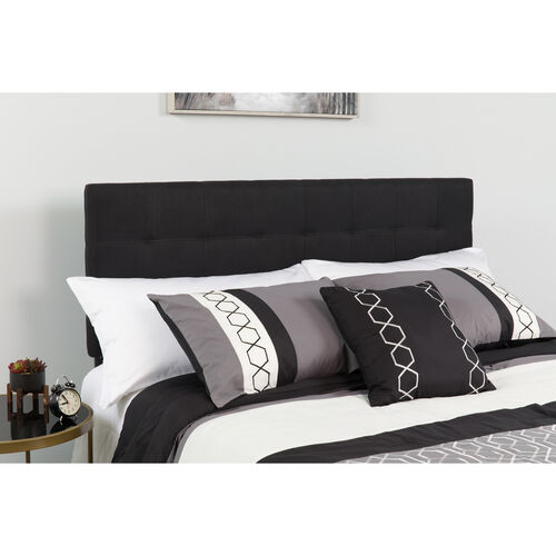 Our Bedford Tufted Upholstered Queen Size Headboard in Black Fabric is on sale now.