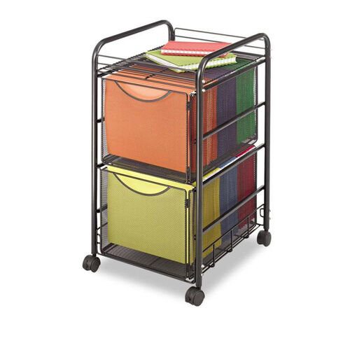 Our Safco® Onyx Mesh Mobile Double File - One-Shelf - 15-3/4 x 17 x 27 - Black is on sale now.