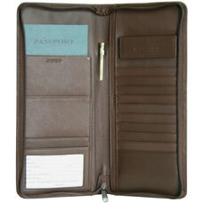 Expanded Document Case- Top Grain Nappa Leather - Coco
