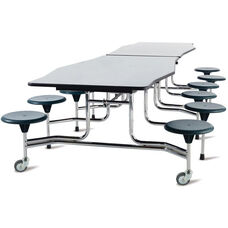 Avant™ Edgescape™ Foldable Cafeteria Table with 12 Attached Round Seats - 144