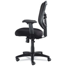 Alera® Elusion Series Mesh Mid-Back Swivel/Tilt Chair - Black